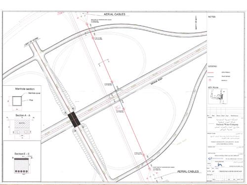 L/33 kv souterraine Crossing Khurais Road