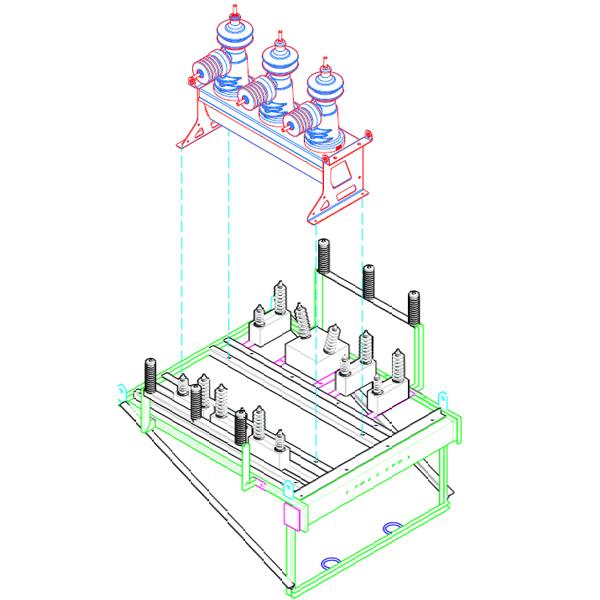 Diseño soporte Recloser Siemens